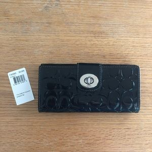 Coach Turnlock Embossed Patton Leather Slim Wallet